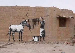 Credit: The Real Banksy.  Our captain was in danger of losing his stripes