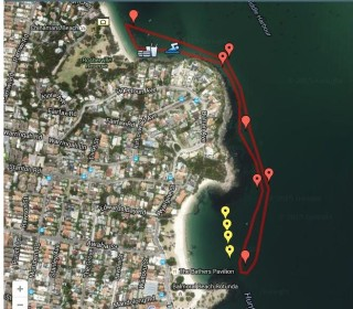 Vladswim - a 2.5km loop from Chinamans Beach to Balmoral and back